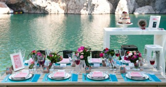 Lakeside Spring table settings
