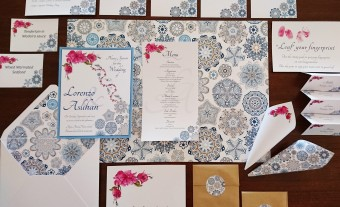Mediterranean Pattern Wedding Stationary