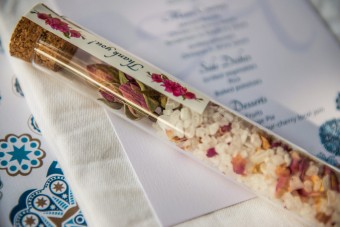 Mediterranean sea salt Wedding Favor