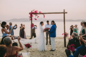 Mediterranean Summer Wedding ceremony Naxos island Greece