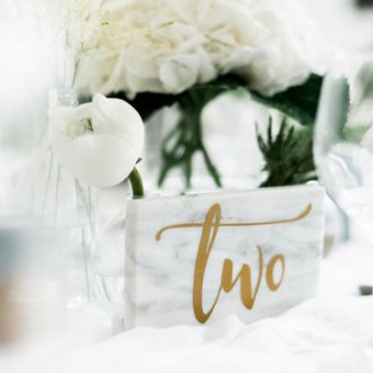 Marble table number Wedding Trends 2018