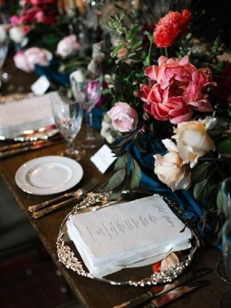Moody Wedding table settings