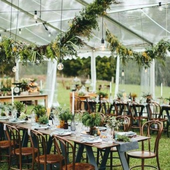 Transparent Tent Wedding