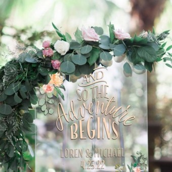 Transparent Wedding Sign