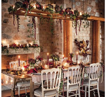 Winter warm tones table-settings
