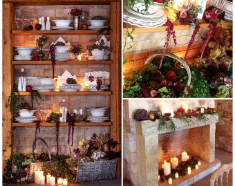 Provencal winter decoration