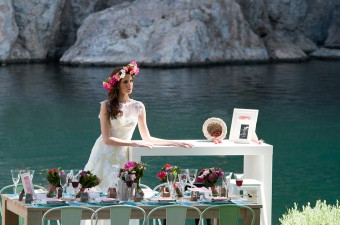 Lakeside Spring inspirational shoot Bridal look Flower Wreath