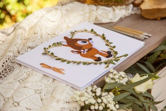 My forest friends Christening guestbook