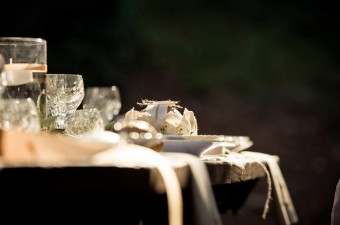 Winter Wedding into the woods table setting
