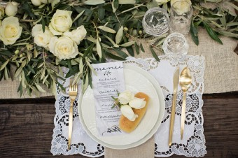Winter Wedding menu card