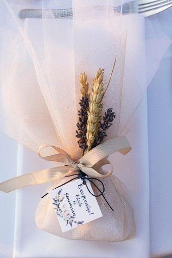 Lavender Wheat Wedding favor