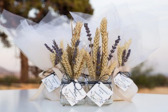Lavender Wheat Wedding favors