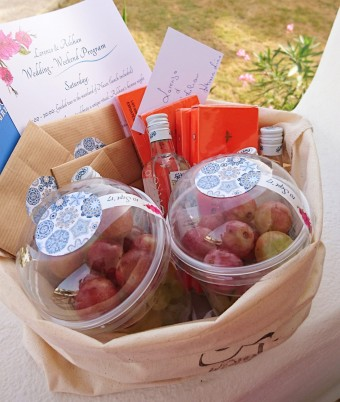 Mediterranean Wedding welcome bag