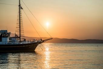 Summer Sunset in Greece