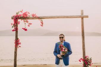 Mediterranean Summer Wedding in Greece the Groom