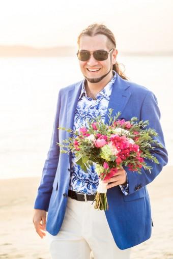Mediterranean Summer Wedding the Groom