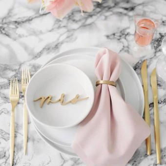 Marble table top Wedding Trends 2018