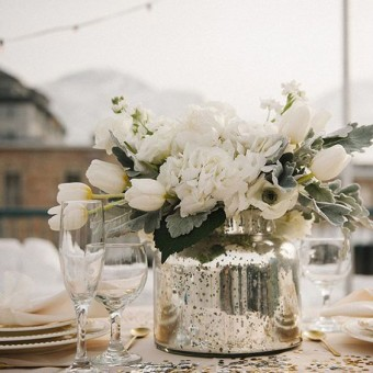 Metallic Wedding decoration