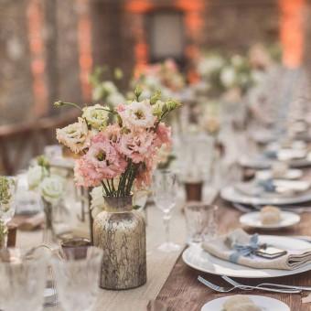 Metallic Wedding decoration