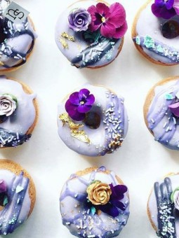 Purple shades on donuts