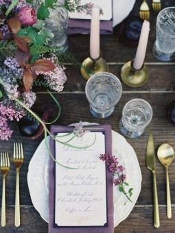 Ultra Violet Wedding details