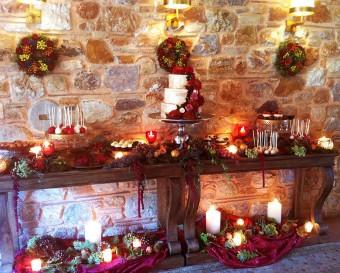 Warm tones Dessert bar Winter celebration
