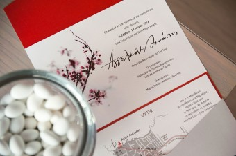 Japanese themed Wedding invitation