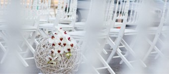Orchid wedding decoration