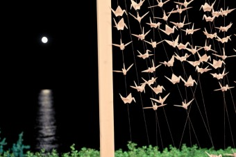 Japanese themed Wedding decoration 1000 cranes