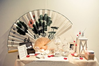 Japanese themed Wedding dessert table