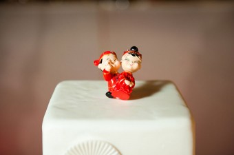 Japanese themed Wedding cake topper