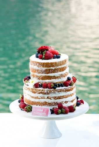 Naked cake by the lake