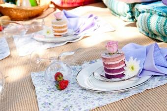 Lakeside Picnic Ombre mini naked cakes