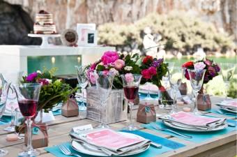 Lakeside Spring table settings