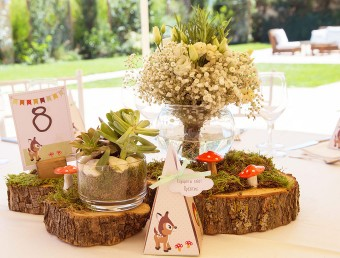 My forest friends Christening table decoration