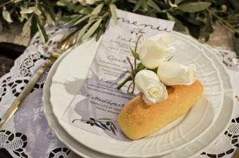 Winter Wedding menu card