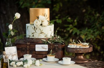 Winter Wedding into the woods dessert table