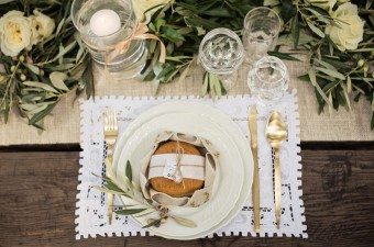 Winter Wedding into the woods art de la table