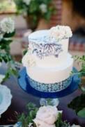Blue pattern cake