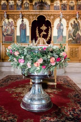 Flower garland Christening