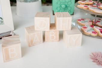 Wooden cubes as guest book
