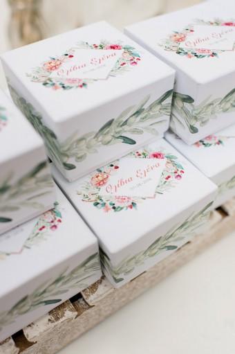 Olive garden Christening favor boxes